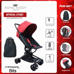 Royal Kiddy London Air Transporter Bits RECLINE Stroller (Red)