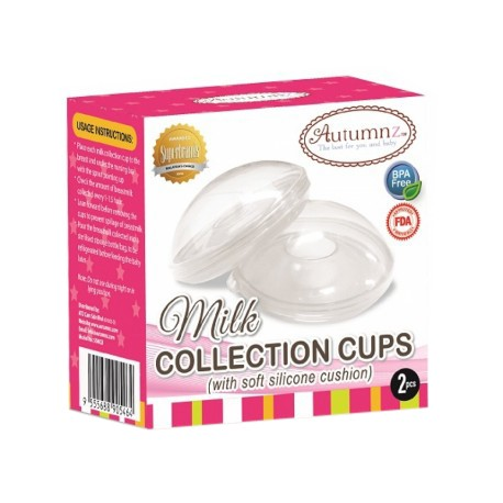 Autumnz Milk Collection Cups with Soft Silicone Cushion (2pcs)