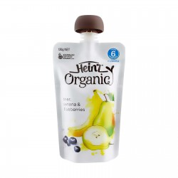 Heinz Organic Pear, Banana & Blueberries 6m+ (120g)