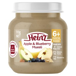 Heinz Apple & Blueberry Muesli 6m+ (110g)