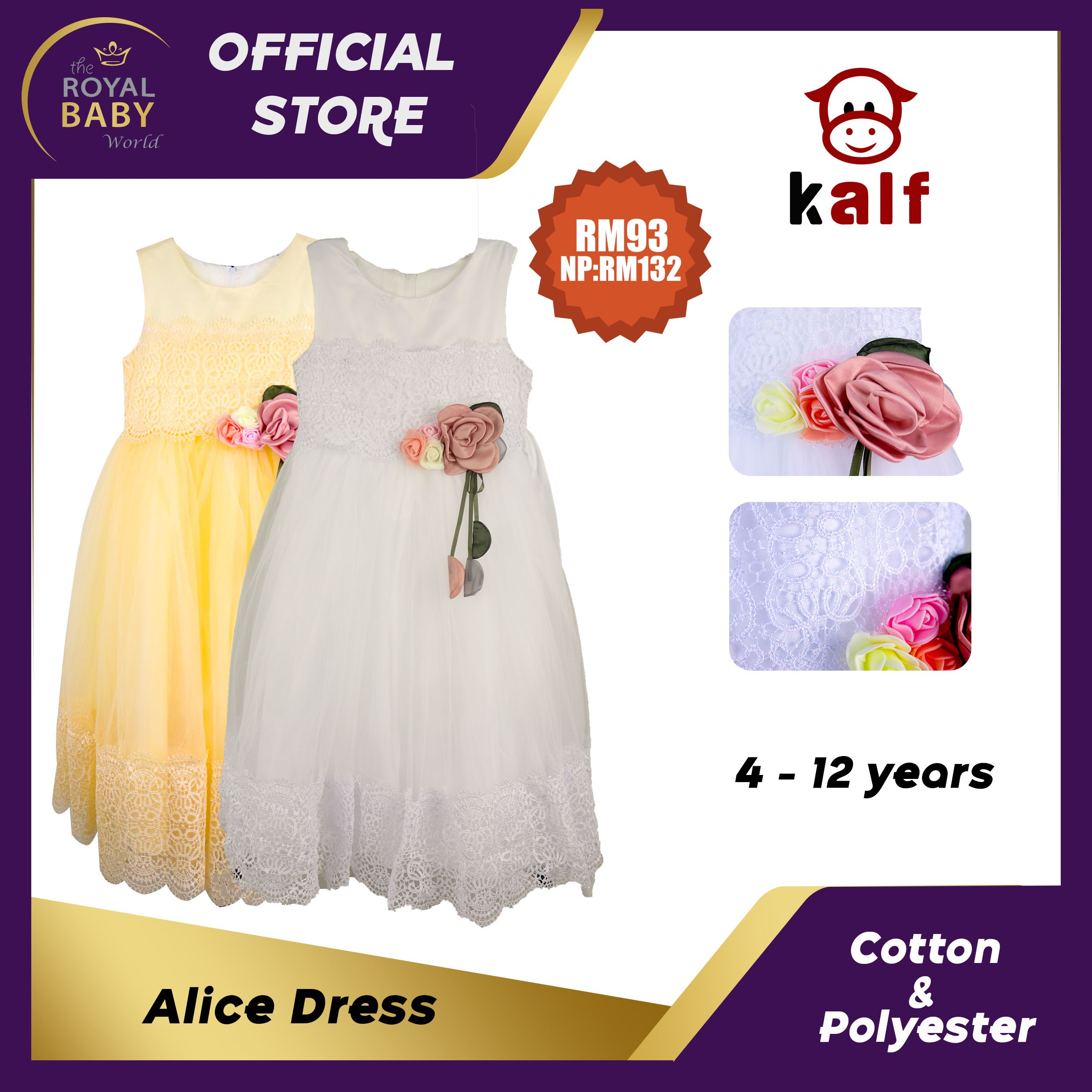 Alice Dress Girl Dress Fit From 4 Up To 12 Years Old For Girls