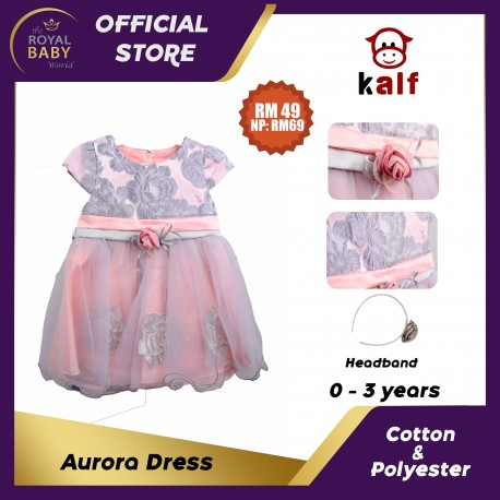 Aurora Dress Baby Dress (Fit from newborn up to 3 years old)
