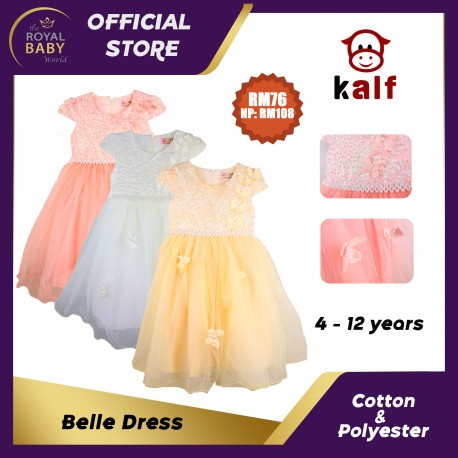 Belle Girl Dress (Fit from 4 to 12 years old)