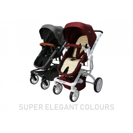 9f7afe1e8294ae Royal Kiddy London 3 in 1 The Majestic Stroller (Beige Red)