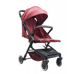 HUGO Baby Exclusive Lano Portable Stroller with FREE Bottle Holder + PU Leather Handle Cover + Stroller Cover Bag (RED)