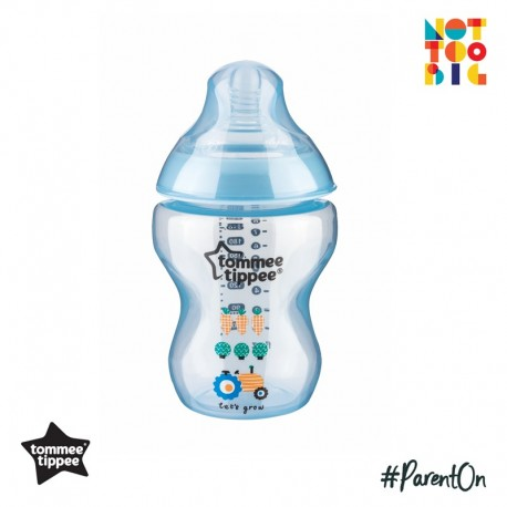 Tommee Tippee Closer to Nature Tinted Bottle 260ml/9oz (1 Pack) - Blue