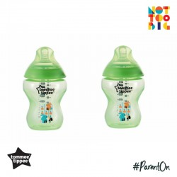 Tommee Tippee Close to Nature Tinted Bottle 260ml/9oz (Pack of 2) - Green