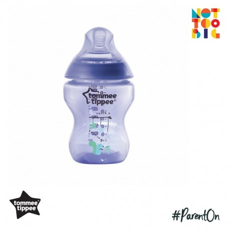 Tommee Tippee Closer to Nature Tinted Bottle 260ml/9oz (1 Pack) - Purplish
