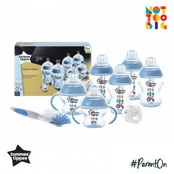 Tommee Tippee Closer to Nature Decorated Bottle Newborn Starter Kit (Blue)