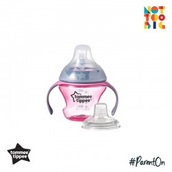 Tommee Tippee CTN Transition Cup 150ml (Teat & Silicone Spout) - Pink