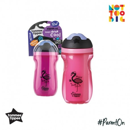 Tommee Tippee Insulated Sipper Cup 260ml 12m+ (Pink)