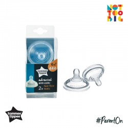 Tommee Tippee Closer To Nature Anti Colic Plus Teat - Fast Flow (Pack of 2)