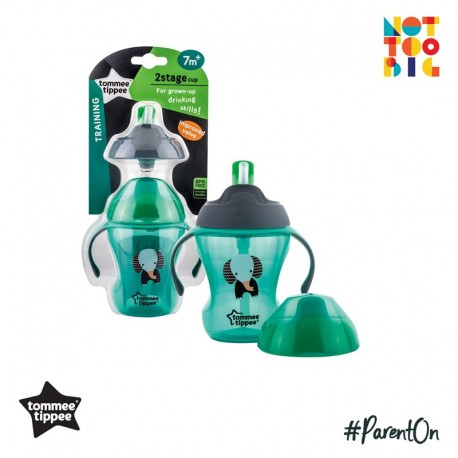 Tommee Tippee 2 Stage Easy Drink 230ml (Green)