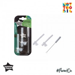 Tommee Tippee Replacement Straw with Cleaning Brush for Straw Cup
