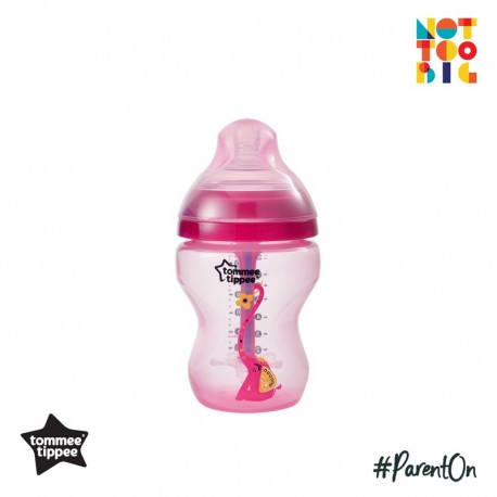 Tommee Tippee Closer to Nature Decorated Bottle (260ml/9oz) Advanced Anti Colic Plus (Girl)