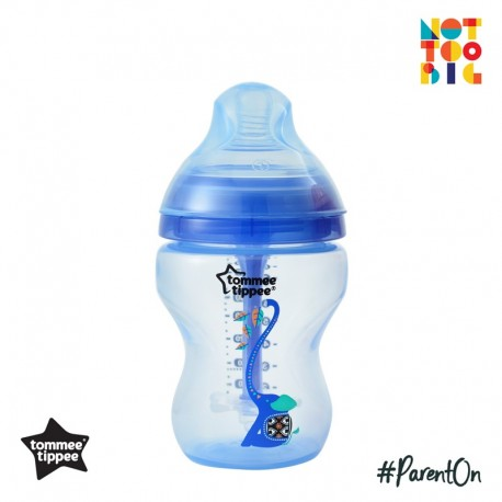 Tommee Tippee Closer to Nature Decorated Bottle (260ml/9oz) Advanced Anti Colic Plus (Boy)