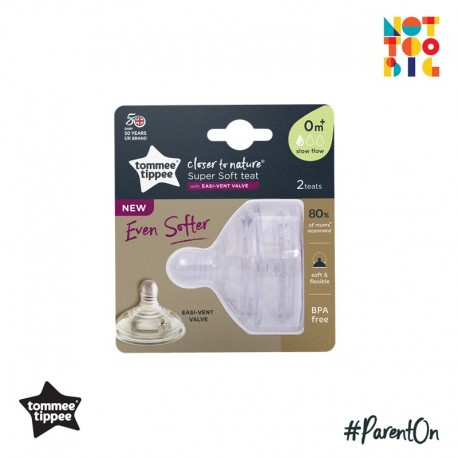 Tommee Tippee CTN Soft Teat Slow (Pack of 2)
