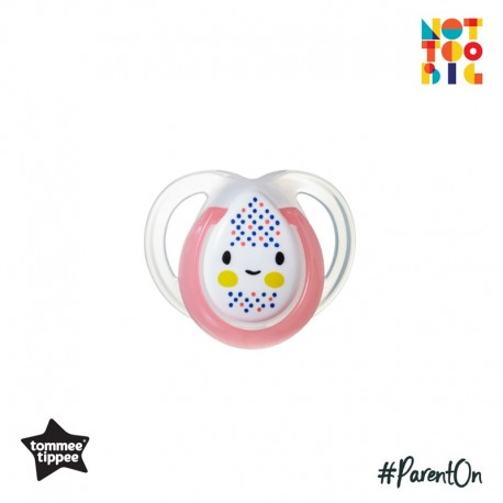 Tommee Tippee Closer to Nature Night Time Soother 0-6mths - 1 Pack (Pink)