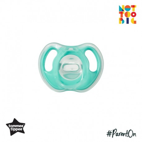 Tommee Tippee Ultra-Light Silicone Soother 6-18m - 1pk (Green)
