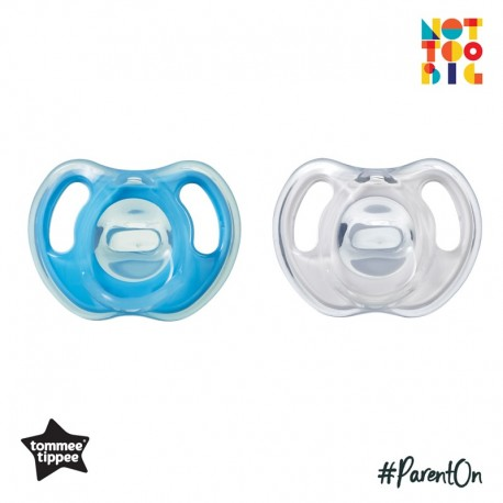 Tommee Tippee Ultra-Light Silicone Soother 6-18m - 2pk (Blue)