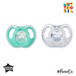 Tommee Tippee Ultra-Light Silicone Soother 6-18m - 2pk (Green)