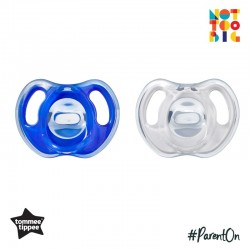 Tommee Tippee Ultra-Light Silicone Soother 18-36m - 2pk (Blue)