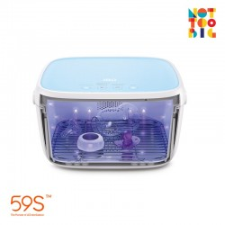 59s UVC LED Milk Bottle Sterilizing Box - Blue (With Battery)