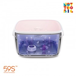 59s UVC LED Milk Bottle Sterilizing Box - Pink (With Battery)