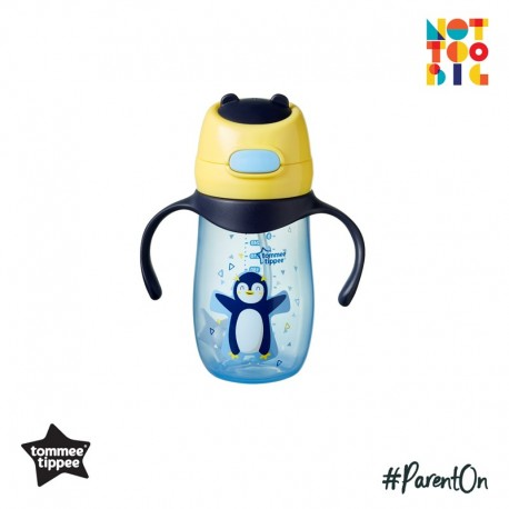 Tommee Tippee Weighted Straw 2 Handle Cup 300ml (Penguin)