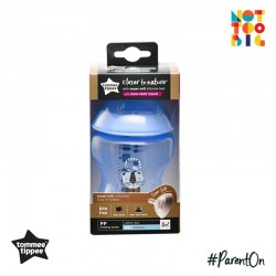 Tommee Tippee CTN PP with Super Soft Teat Tinted Bottle 260ml/9oz - Blue (Cat)