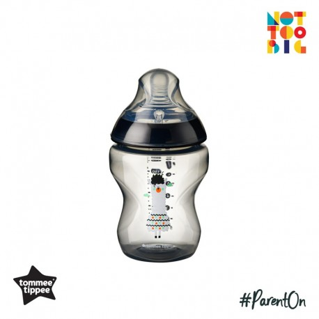 Tommee Tippee CTN PP with Super Soft Teat Tinted Bottle 260ml/9oz - Black (Llama)