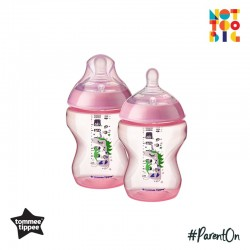 Tommee Tippee CTN PP with Super Soft Teat Tinted Bottle 260ml/9oz 2pk - Pink (Unicorn)