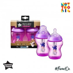 Tommee Tippee CTN PP with Super Soft Teat Tinted Bottle 260ml/9oz 2pk - Purple (Mermaid)