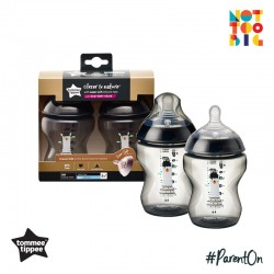 Tommee Tippee CTN PP with Super Soft Teat Tinted Bottle 260ml/9oz 2pk - Black (Llama)
