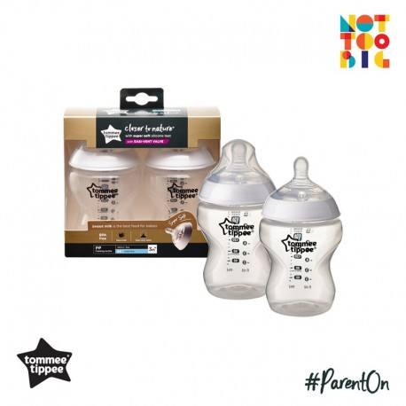 Tommee Tippee CTN PP with Super Soft Teat Bottle 260ml/9oz (2pk)