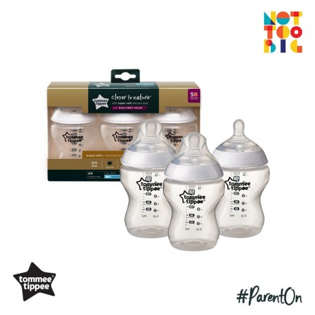 Tommee Tippee CTN PP with Super Soft Teat Bottle 260ml/9oz (3pk)