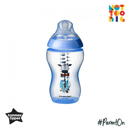 Tommee Tippee CTN PP with Super Soft Teat Tinted Bottle 340ml/12oz - Blue (Giraffe)