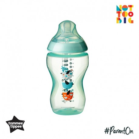 Tommee Tippee CTN PP with Super Soft Teat Tinted Bottle 340ml/12oz - Green (Bird)