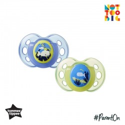 Tommee Tippee Closer to Nature Night Time Soother 18-36mths (Pack of 2) - Yellow & Blue (New Design)
