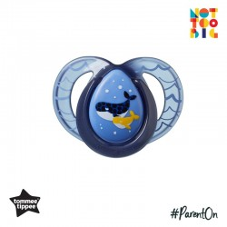 Tommee Tippee Closer to Nature Night Time Soother 6-18mths (1 Pack) - Blue (New Design)