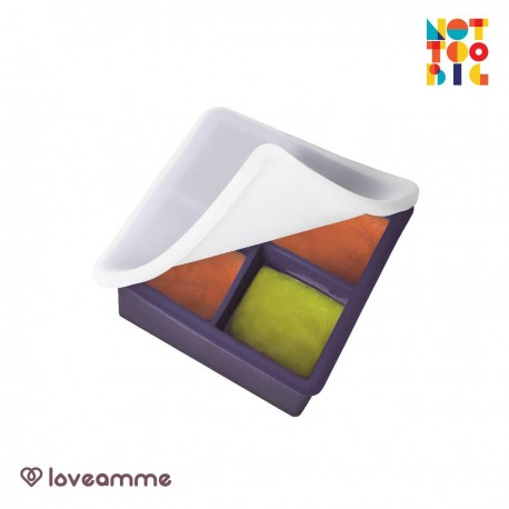 LoveAmme Silicone Baby Food Freezer Tray (4 Servings)