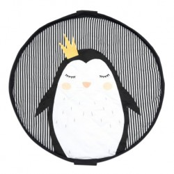 Play & Go 2-in-1 Soft Toy Storage Bag & Playmat 120cm (Penguin)