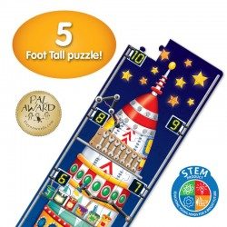 TLJI Long & Tall Puzzle - 123 Rocket Ship