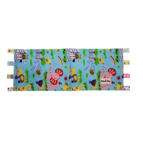 Beanie Nap Pillow Cover With Taggies - Blue Zoo