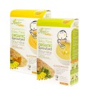 Xongdur Organic Sprouted Brown Rice (Banana and Pumpkin + Banana and Spinach)  (6 sachets x 20 g x 2 boxes)