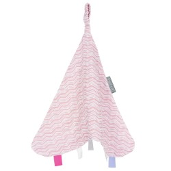 Cheeky Chompers Muslin Comforter Rosy Days