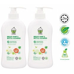 Chomel Breast Pump & Bottle Cleanser 500ml (Twin Pack)