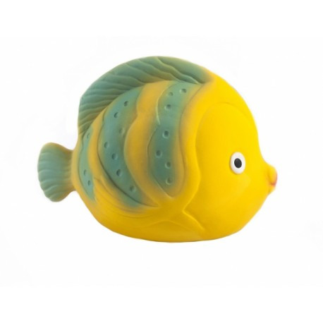 Caaocho Natural Rubber Bath Toy (La The Butterfly Fish Baby Toys)