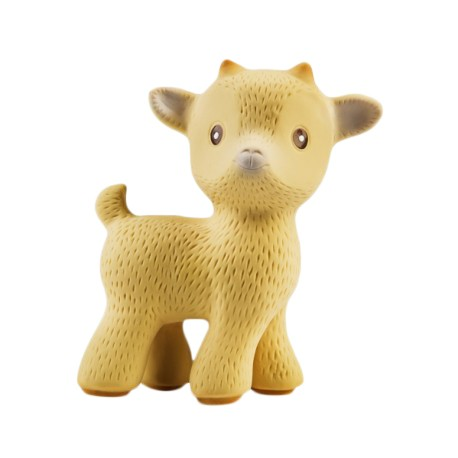 Caaocho Sola The Goat (Tan), Natural Rubber Teething Toy