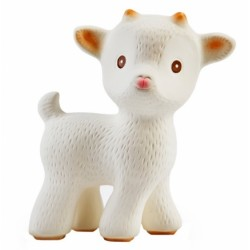 Caaocho Sola The Goat (White), Natural Rubber Teething Toy
